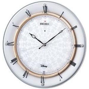 セイコー 掛け時計 ミッキーマウス 電波 アナログ 大人ディズニー 白パール FS501W|empire-clock