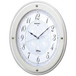 セイコー 掛け時計 ディズニーPRINCESS(プリンセス) 電波 アナログ 6曲メロディ 大人ディズニー 白 FS502W|empire-clock
