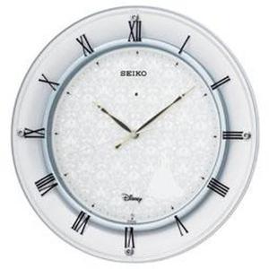 セイコー 掛け時計 シンデレラ 電波 アナログ 金属枠 大人ディズニー白パール FS503W|empire-clock