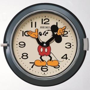 セイコー 掛け時計 ミッキーマウス アナログ 防塵型 金属枠 大人ディズニー 青 FS504L|empire-clock