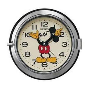 セイコー 掛け時計 ミッキーマウス アナログ 防塵型 大人ディズニー 銀色 FS504S|empire-clock