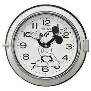 セイコー 掛け時計 ミッキーマウス アナログ 防塵型 金属枠 大人ディズニー 白 FS504W|empire-clock