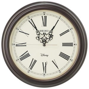セイコー 掛け時計 ミッキーマウス ミニーマウス 電波 アナログ 大人ディズニー 木枠 濃茶木地 FS507B|empire-clock