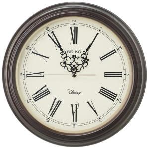 SEIKO セイコー 掛け時計 ミッキーマウス ミニーマウス 電波 アナログ 大人ディズニー 木枠 濃茶木地 FS507B【お取り寄せ】|empire-clock