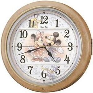 セイコー 掛け時計 ミッキーマウス 電波 アナログ からくり ミッキー Disney (ディズニー) 薄茶マーブル模様 FW561A empire-clock