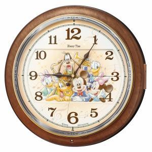 SEIKO セイコー 掛け時計 からくり 電波 ミッキーマウス アナログ ミッキー ミニー メロディ スワロフスキー FW587B【お取り寄せ】|empire-clock