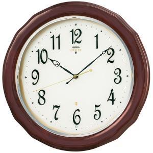 SEIKO セイコー 掛け時計 スタンダード EMBLEM エムブレム 電波 木枠 HS521B【お取り寄せ】|empire-clock