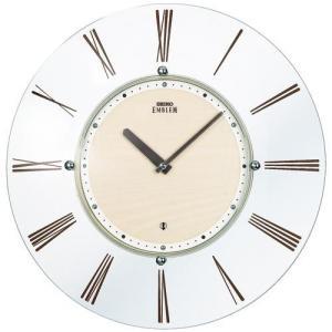 SEIKO セイコー 掛け時計 スタンダード EMBLEM エムブレム 薄型電波 スタイリッシュデザイン HS529A【お取り寄せ】|empire-clock