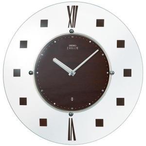 SEIKO セイコー 掛け時計 スタンダード EMBLEM エムブレム 薄型電波 スタイリッシュデザイン HS529B【お取り寄せ】|empire-clock
