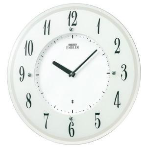 SEIKO セイコー 掛け時計 電波 ソーラー アナログ EMBLEM エムブレム 世界最薄 HS533W【お取り寄せ】|empire-clock