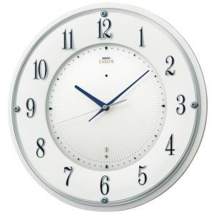 SEIKO セイコー 掛け時計 スタンダード EMBLEM エムブレム 電波 艶やかな スワロフスキー サファイヤブルー HS543W【お取り寄せ】|empire-clock