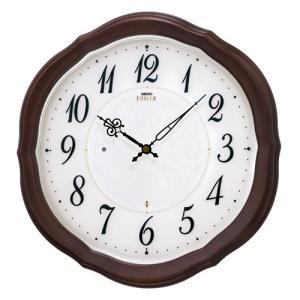 SEIKO セイコー 掛け時計 スタンダード EMBLEM エムブレム 電波 マホガニー HS544B【お取り寄せ】|empire-clock