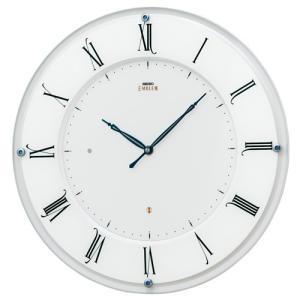 SEIKO セイコー 掛け時計 スタンダード EMBLEM エムブレム 薄型 電波クロック HS548W【お取り寄せ】|empire-clock