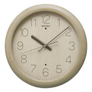 SEIKO セイコー 掛け時計 スタンダード 電波 アナログ 木枠 薄茶木地 KX201A【お取り寄せ】|empire-clock