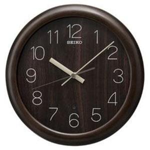 SEIKO セイコー 掛け時計 スタンダード 電波 アナログ 木枠 濃茶木地 KX201B【お取り寄せ】|empire-clock