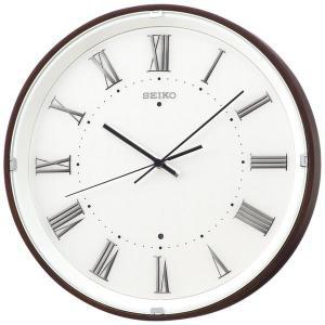 SEIKO セイコー 掛け時計 スタンダード 電波 アナログ 木枠 濃茶木地 KX206B【お取り寄せ】|empire-clock