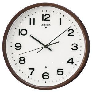 SEIKO セイコー 掛け時計 スタンダード 電波 アナログ 木枠 濃茶木地 KX207B【お取り寄せ】|empire-clock