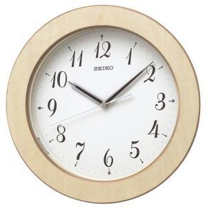 SEIKO セイコー 掛け時計 電波 自動点灯 アナログ 夜でも見える 暗くても見える 木枠 天然色木地 KX216A【お取り寄せ】|empire-clock