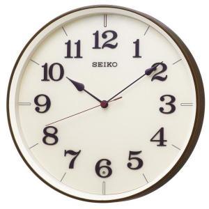 SEIKO セイコー 掛け時計 スタンダード 電波 アナログ 濃茶木目模様 KX221B【お取り寄せ】|empire-clock