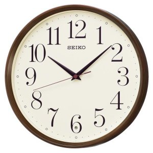 SEIKO セイコー 掛け時計 スタンダード 電波 アナログ 濃茶木目模様 KX222B【お取り寄せ】|empire-clock