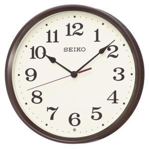 SEIKO セイコー 掛け時計 スタンダード 電波 アナログ 茶メタリック KX223B【お取り寄せ】|empire-clock