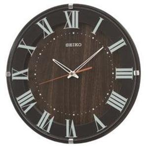 SEIKO セイコー 掛け時計 スタンダード 電波 アナログ 濃茶 KX397B【お取り寄せ】|empire-clock