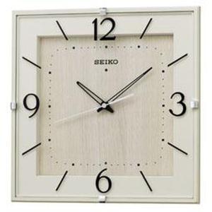 SEIKO セイコー 掛け時計 スタンダード 電波 アナログ 四角型 アイボリー木目模様 KX398A【お取り寄せ】|empire-clock