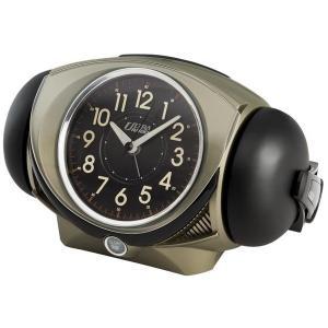 SEIKO セイコー 目覚まし時計 アナログ 大音量 ベル音 ピクシス ウルトラライデン オリーブメタリック NR441N【お取り寄せ】|empire-clock