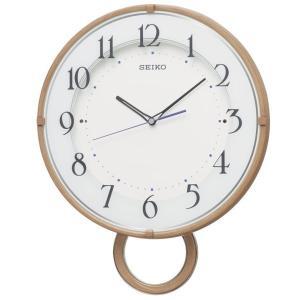 SEIKO セイコー 掛け時計 スタンダード 電波 アナログ 飾り振り子 薄茶木目模様 PH206A【お取り寄せ】|empire-clock