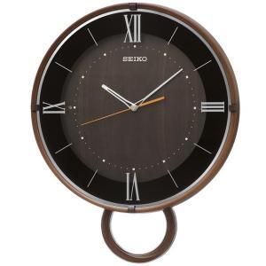 SEIKO セイコー 掛け時計 スタンダード 電波 アナログ 飾り振り子 濃茶木目模様 PH206B【お取り寄せ】|empire-clock