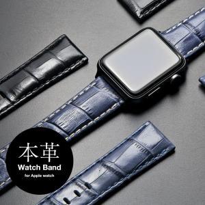アップルウォッチ バンド for Apple watch 本革 レザー 42mm 44mm ブランド...