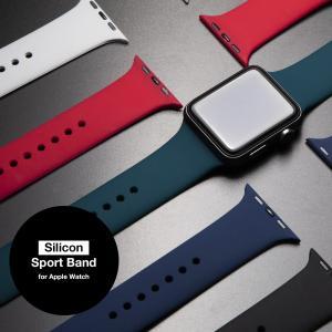 アップルウォッチ バンド for Apple watch スポーツバンド シリコン ラバー 38mm...