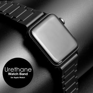 アップルウォッチ バンド for Apple watch ウレタン 軽量 軽い 38mm 40mm ...