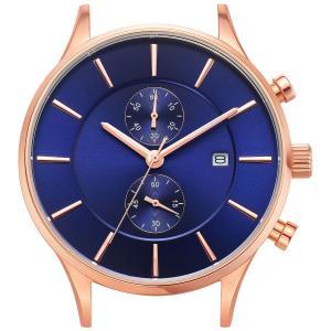腕時計 メンズ クロノグラフ ClassicRound Chrono 42mm ローズゴールド シルバー ベルト別売り|empire