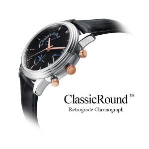腕時計 メンズ ブランド おしゃれ クロノグラフ ClassicRound 35mm レトログラード|empire