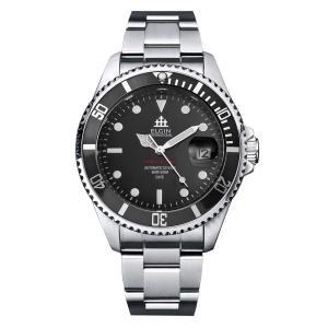 ELGIN エルジン メンズ 腕時計 自動巻き ダイバー 200M防水 ブラック|empire