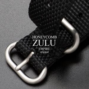 EMPIRE HONEYCOMB ハニカム ナイロン ZULU NATO 時計 ベルト ブラック 18mm 20mm 22mm|empire