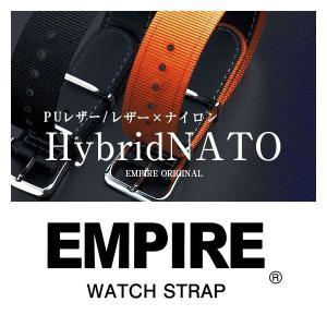 時計 腕時計 ベルト バンド  EMPIRE  NATO カーフ ナイロン 腕時計用 ハイブリッド ストラップ 18mm 20mm 腕時計 替え 交換|empire