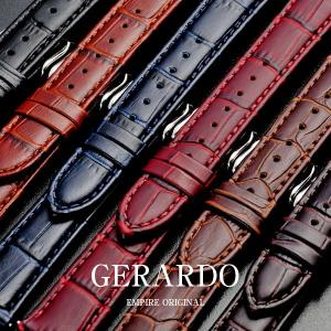 時計 ベルト 18mm 20mm 腕時計 ベルト バンド イタリアンレザー クロコ 本革 EMPIRE GERARDO ジェラルド|empire