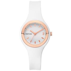 腕時計 レディース シリコン かわいい 軽量 防水  日本限定モデル ホワイト ローズゴールド|empire