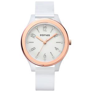 腕時計 レディース 軽量 防水 かわいい アナログ ホワイト ローズゴールド|empire