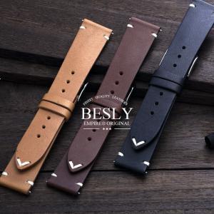 時計 腕時計 ベルト バンド  EMPIRE  BESLY ベスリー Horween ホーウィン レザー 18mm 20mm|empire