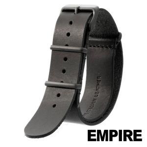 nato ストラップ 時計 腕時計 ベルト バンド  EMPIRE  革 ブラック尾錠 イタリアンレザー 本革 NATO ストラップ 18mm 20mm 22mm|empire
