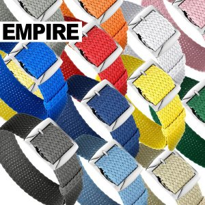 時計 腕時計 ベルト バンド  EMPIRE  AIR NATO PERLON STRAP パーロン ステンレス 316L 尾錠 18mm 20mm 22mm|empire