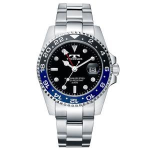 腕時計 メンズ ブランド 高級 おしゃれ テクノス GMT T2134NB2|empire