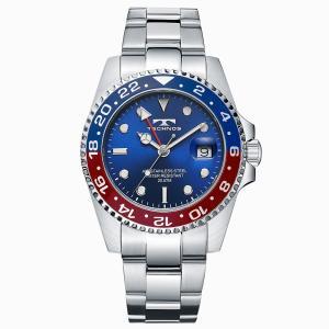 腕時計 メンズ ブランド 高級 おしゃれ テクノス GMT T2134NR|empire