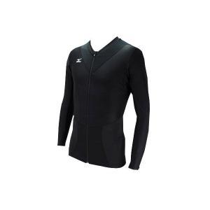 ミズノ mizuno メンズ ゴルフ アンダーウェア A86YL16009 ブラック バイオギア スイングNAVI アイスタッチ フルジップ Vネック長袖|ems-sports1