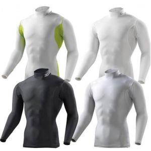 ネコポス選択可 ミズノ mizuno バイオギア ハイネック長袖 A86YL350 メンズ アイスタッチ UVカット 紫外線カット アンダーシャツ|ems-sports1
