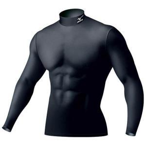 ネコポス選択可 ミズノ mizuno バイオギア ハイネック長袖 A86YM350 09 メンズ UVカット 紫外線カット アンダーシャツ|ems-sports1