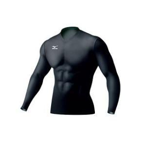 ネコポス選択可 ミズノ mizuno バイオギア V首シャツ長袖 A86YM351 09 メンズ UVカット 紫外線カット アンダーシャツ|ems-sports1